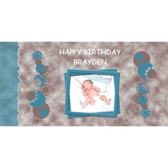 Carte Fete By Meldeschenes Hotmail Com   Happy Birthday 3d Greeting Card (8x4)   7r5yi9m50qu7   Www Artscow Com Front