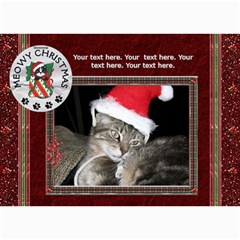 Meowy Christmas 5x7 Photo Cards By Lil    5  X 7  Photo Cards   M7jetxn3bafq   Www Artscow Com 7 x5 Photo Card - 5