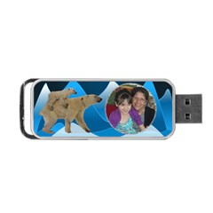 Polar Bear Usb Flash (2 Sides) By Kim Blair   Portable Usb Flash (two Sides)   4d4sfbnaqj6l   Www Artscow Com Front