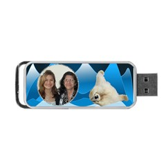 Polar Bear Usb Flash (2 Sides) By Kim Blair   Portable Usb Flash (two Sides)   4d4sfbnaqj6l   Www Artscow Com Back