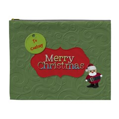 Christmas Xl Bag By Patricia W   Cosmetic Bag (xl)   K1oy08whu7kt   Www Artscow Com Front