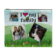 I Love My Famiy Cismetic Bag (xl) 2 Sides By Kim Blair   Cosmetic Bag (xl)   Qhlquc5zycuk   Www Artscow Com Front