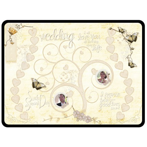 Heirloom Wedding Extra Large Fleece Blanket By Catvinnat 80 x60  Blanket Front