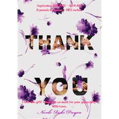 Thank U 2 By Raquel Dayan   Thank You 3d Greeting Card (7x5)   8m96f76xkl6i   Www Artscow Com Inside