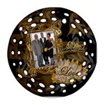 Round Filigree 2012 Black Gold Ornament - Ornament (Round Filigree)