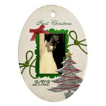 Sarah 1st Christmas - Ornament (Oval)