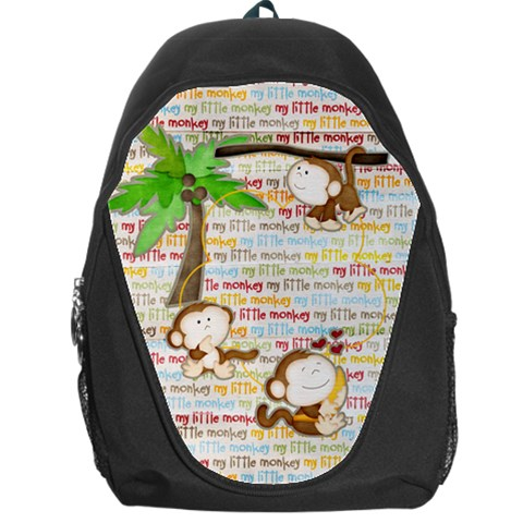 My Monkey Backpack By Elena Petrova   Backpack Bag   8bbt292nybpv   Www Artscow Com Front