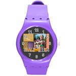 halloween - Round Plastic Sport Watch Medium