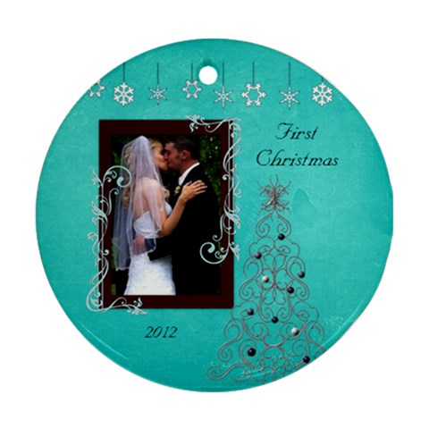 Bethanys 1sy Christmas 2 By Loralie   Ornament (round)   5ew0c9t7afdd   Www Artscow Com Front
