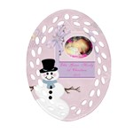 Ellie 1st Christmas - Ornament (Oval Filigree)