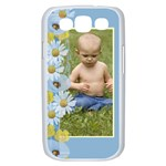 blue Poppy Samsung Galaxy S III Case (white)