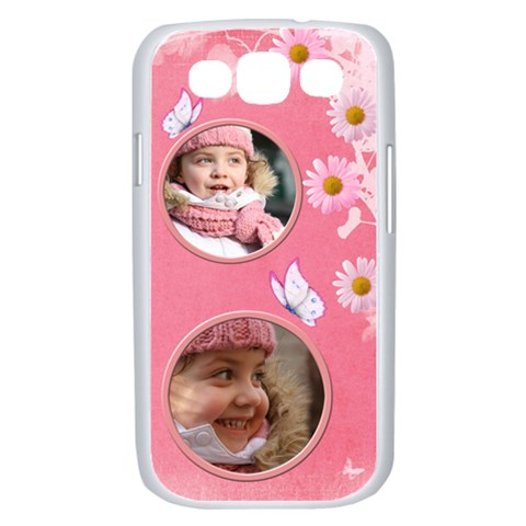 Pink Daisy Samsung Galaxy S Iii Case (white) By Deborah   Samsung Galaxy S Iii Case (white)   D7gylm121qc2   Www Artscow Com Front