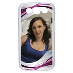Pink Wave Samsung Galaxy S III Case (white)