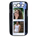 Marble Blue Samsung Galaxy S III Case (black)