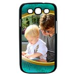 Teal and Gold Samsung Galaxy S III Case (black)