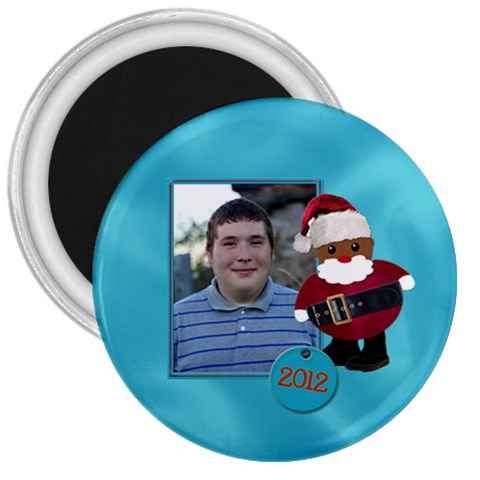 Santa Magnet By Patricia W   3  Magnet   O0awrt4482f3   Www Artscow Com Front