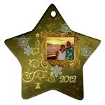 Gold 2012 star Christmas ornament - Ornament (Star)