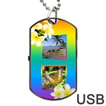 Tropical Dog Tag USB Flash - Dog Tag USB Flash (One Side)