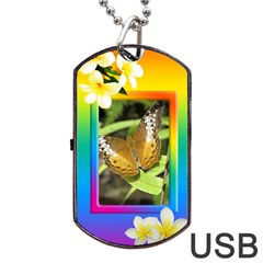 Tropical Dog Tag Usb Flash (2 Sided) By Deborah   Dog Tag Usb Flash (two Sides)   721lwachlh5l   Www Artscow Com Front