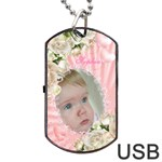 Baby Girl  Dog Tag USB Flash (2 sided - Dog Tag USB Flash (Two Sides)