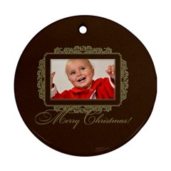 Xmas By Man   Round Ornament (two Sides)   Sntthrdgyv26   Www Artscow Com Back