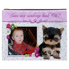 Yorkie Cosmetic Bag (xxxl) 2 Sides By Kim Blair   Cosmetic Bag (xxxl)   Ftzoqteqsq05   Www Artscow Com Front