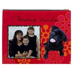 Pug Cosmetic Bag (xxxl) 2 Sides By Kim Blair   Cosmetic Bag (xxxl)   Yzaldtbrtza5   Www Artscow Com Back
