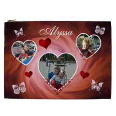 Cosmetic Bag (xxl)   Hearts & Butterflies By Lmw   Cosmetic Bag (xxl)   Ntcr35ktxg52   Www Artscow Com Front