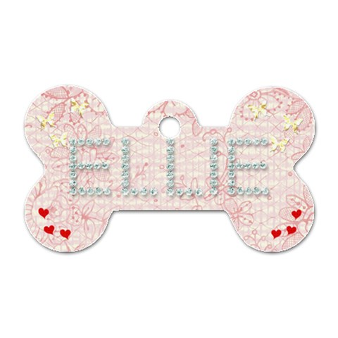 Ellie Dogtag By Jerry   Dog Tag Bone (one Side)   Nknv51lwozi3   Www Artscow Com Front