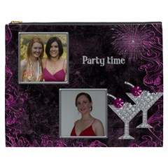 Party Time Cosmetic Bag (xxxl) By Deborah   Cosmetic Bag (xxxl)   Bp7ygm5a5ybk   Www Artscow Com Front