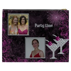 Party Time Cosmetic Bag (xxxl) By Deborah   Cosmetic Bag (xxxl)   Bp7ygm5a5ybk   Www Artscow Com Back