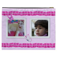 Pretty Pink Cosmetic Bag (xxxl) By Deborah   Cosmetic Bag (xxxl)   Blt2er02jspt   Www Artscow Com Back