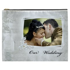 Our Wedding Cosmetic Bag (xxxl) By Deborah   Cosmetic Bag (xxxl)   824jt49w3edv   Www Artscow Com Front