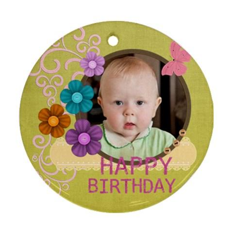Happy Birthday By Jacob   Ornament (round)   1ztpdgcddpmd   Www Artscow Com Front