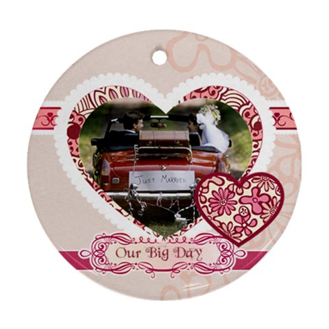 Wedding By Jacob   Ornament (round)   T3x11biyonf0   Www Artscow Com Front