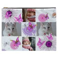 Butterfly Cosmetic Bag (xxxl) By Deborah   Cosmetic Bag (xxxl)   Xw8md3vfl8kf   Www Artscow Com Front