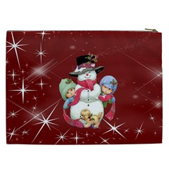 Christmas Collection Cosmetic Bag (xxl) By Picklestar Scraps   Cosmetic Bag (xxl)   Khontduwxwdp   Www Artscow Com Back
