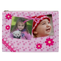 Little Princess Cosmetic Bag (xxl) By Picklestar Scraps   Cosmetic Bag (xxl)   X53rrae0tjpp   Www Artscow Com Front