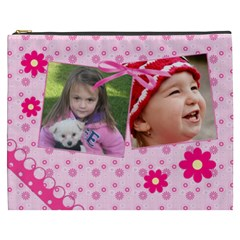 Little Princess Cosmetic Bag (xxxl) By Picklestar Scraps   Cosmetic Bag (xxxl)   Qymo62y285tz   Www Artscow Com Front