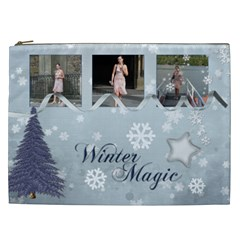 Simply Christmas Cosmetic Bag (xxl)  By Picklestar Scraps   Cosmetic Bag (xxl)   H60j0sn534ey   Www Artscow Com Front