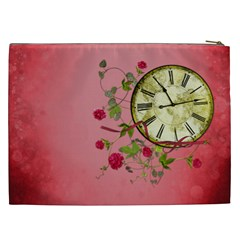 Shabby Rose Cosmetic Bag (xxl)  By Picklestar Scraps   Cosmetic Bag (xxl)   Xadljx01r7n8   Www Artscow Com Back