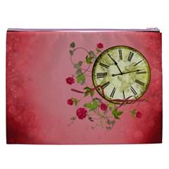 Shabby Rose Cosmetic Bag (xxl)  By Picklestar Scraps Back