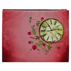 Shabby Rose Cosmetic Bag (xxxl)  By Picklestar Scraps   Cosmetic Bag (xxxl)   Nn5t3w81wowu   Www Artscow Com Back