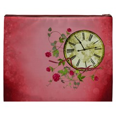 Shabby Rose Cosmetic Bag (xxxl)  By Picklestar Scraps Back