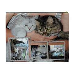 Cats By Chen,szu Ling   Cosmetic Bag (xl)   0sa22cvc7ygq   Www Artscow Com Back