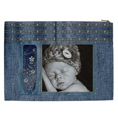 Studded Denim Xxl Cosmetic Bag By Lil    Cosmetic Bag (xxl)   Wvmhqreksqvr   Www Artscow Com Back