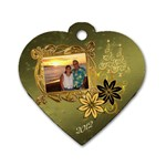 Palm Christmas Dog Tag - Dog Tag Heart (Two Sides)