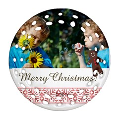 Merry Christmas By M Jan   Round Filigree Ornament (two Sides)   M3sjk3xd16ro   Www Artscow Com Back