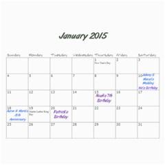 Aj Calendar By Marisa Russo   Wall Calendar 11  X 8 5  (12 Months)   Cfcj2367qh1h   Www Artscow Com Jan 2015