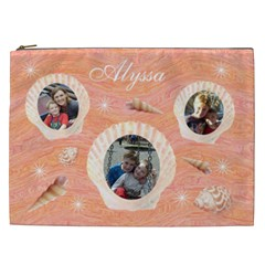 Cosmetic Bag (xxl)   Seashells By Lmw   Cosmetic Bag (xxl)   Z82i4bxksm3y   Www Artscow Com Front